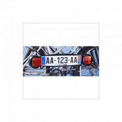 Plaque de signalisation pour porte vélos arrière mottez