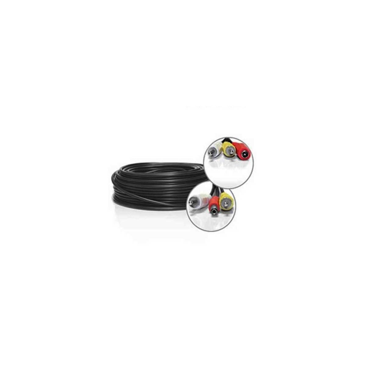 Cable rca video audio alimentation 30m