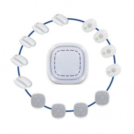 Kit alarme maison sans fil connectã© 3 en 1 -  dã©tection prã©sence et ouverture xxl - lifebox smart