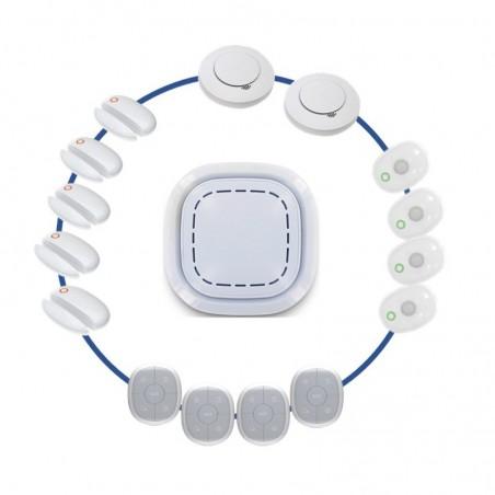 Kit alarme maison sans fil connectã© 3 en 1 -  sã©curitã© domestique daaf - lifebox smart