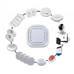 Kit alarme maison sans fil connectã© 3 en 1 -  sirã¨ne, camã©ra ext et domestique lifebox smart