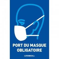 Panneau affichage port du masque obligatoire
