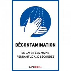 Panneau affichage pour le lavage des mains