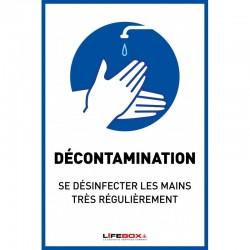 Panneau affichage pour la dã©sinfection des mains