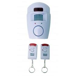 Mini Alarme à détecteur de mouvement avec télécommandes