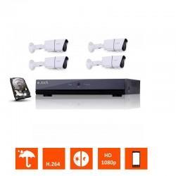 Kit ahd 1080p 4 camã©ras tubes varifocales 1.3 mp