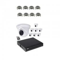 Dahua kit vidã©o surveillance ip poe 8 camã©ras dã´me
