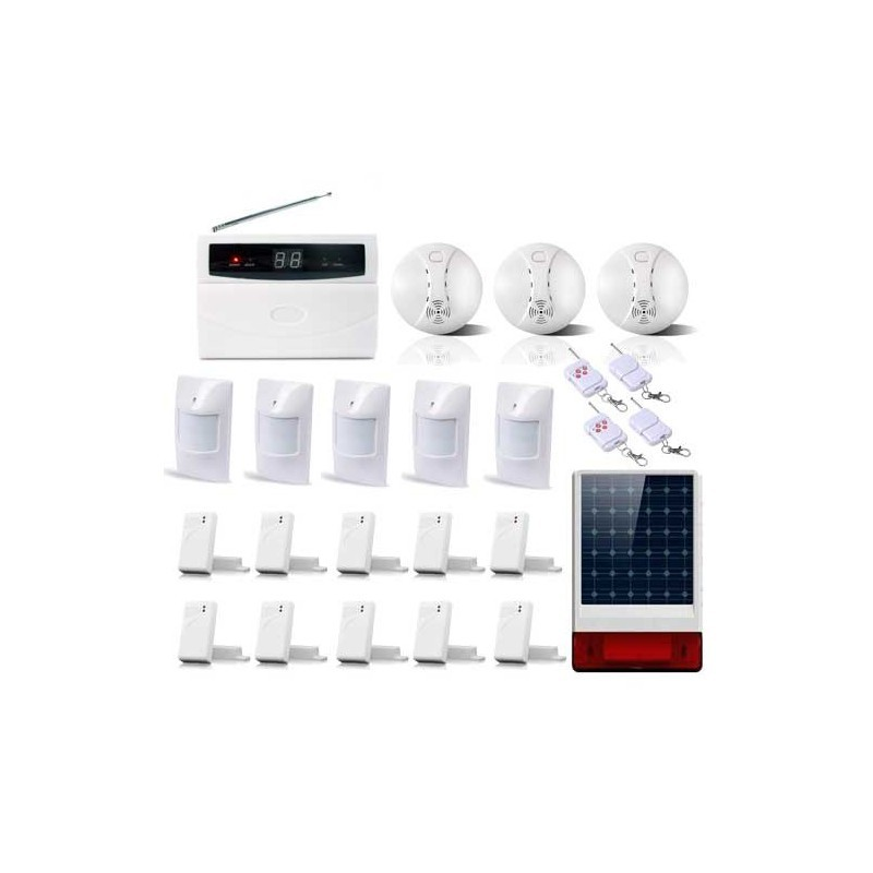 Kit alarme avec sirene solaire de 32 zones xxxl box
