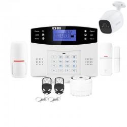 Alarme maison gsm et caméra connectée sans fil lifebox evolution - kit connecté 1