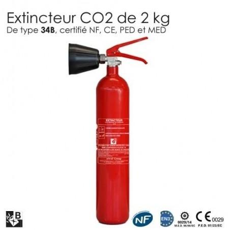 Extincteur co2 2kg b nf