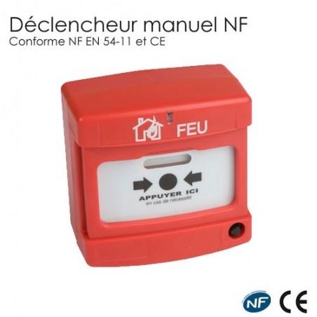 Déclencheur manuel incendie rouge nf