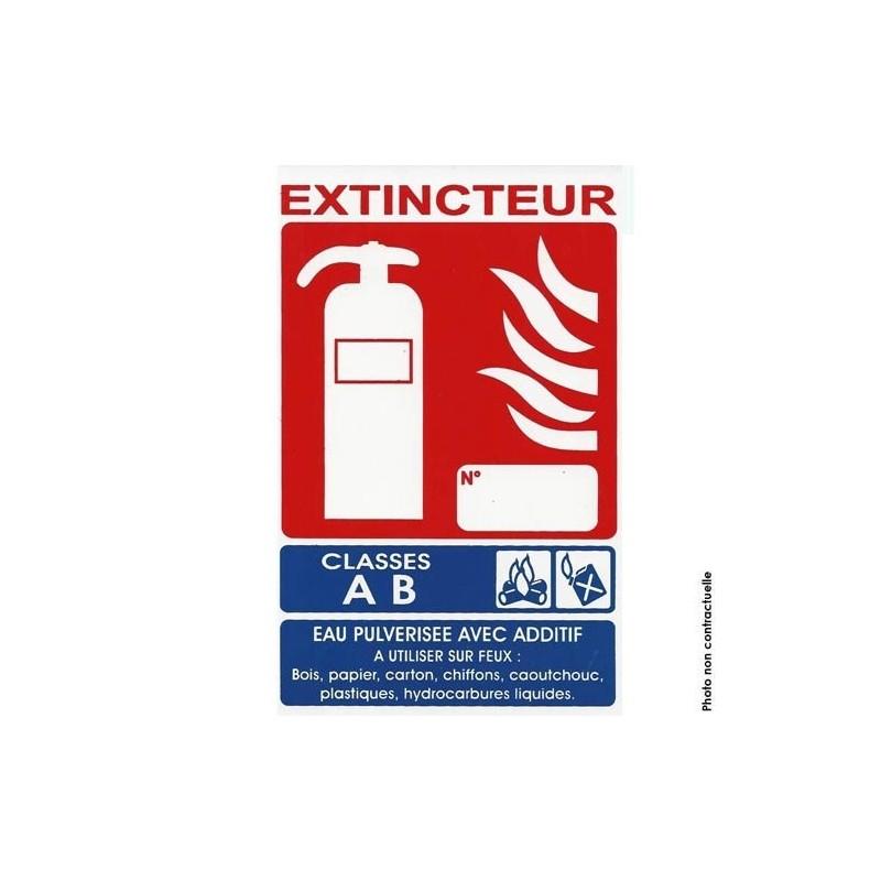 Panneau signalétique extincteur ab