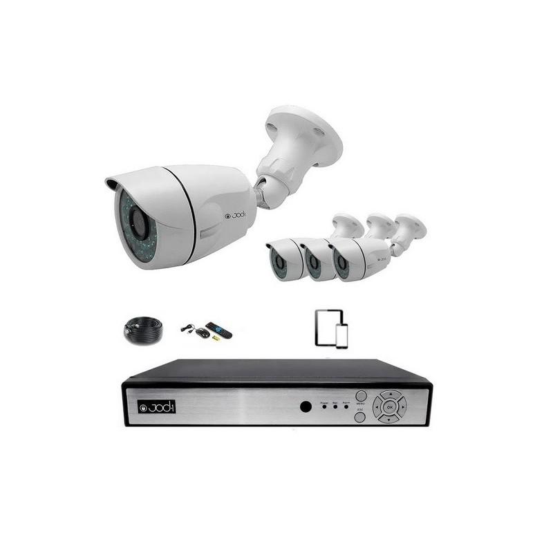 Kit vidéosurveillance ahd 960p 4 caméras 1,3mp