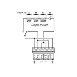 Déclencheur manuel blanc nf - simple contact