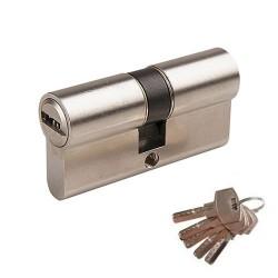 Cylindre de sécurité double 60mm (30x30) avec 5 clés