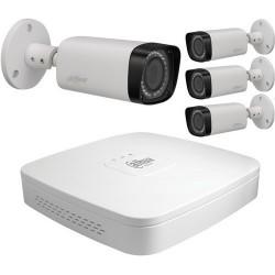 Kit vidéo surveillance hd cvi 4 caméras 720p à focale variable