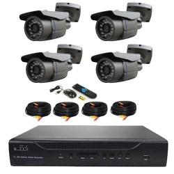 Kit surveillance vidéo 4 caméras ccd sony