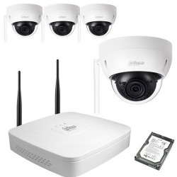 Kit video wifi dahua 4 domes 1mp