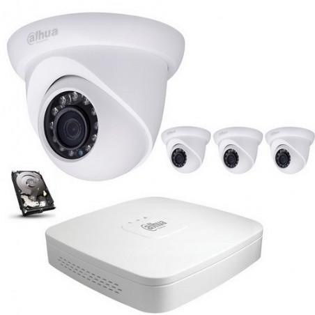 Kit vidéo surveillance dahua ip poe 4 dômes 720p