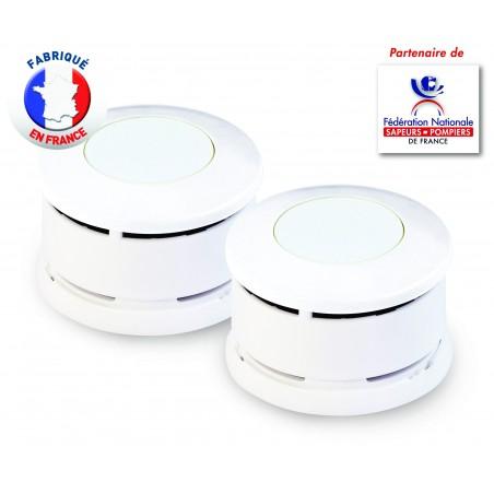 Lot de 2 Détecteurs de Fumée certifiés NF Lifebox Serenity 1