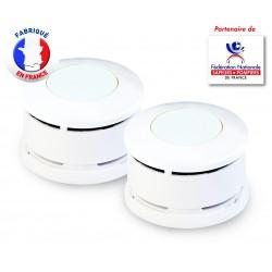 Lot de 2 Détecteurs de Fumée certifiés NF Lifebox Serenity 5