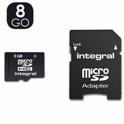 Carte mémoire, micro sd de 8 go