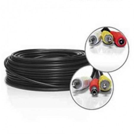 "Cable video bnc video 12v de 100 m  ""tout en un"""