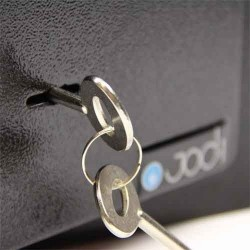 Coffre fort a clef,7l acier galvanise de 4mm