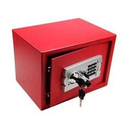 Coffre fort, 22l clef et code, rouge
