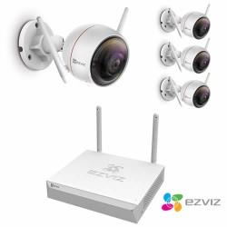 Vidéosurveillance wifi ezviz 4 caméras sans fil
