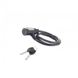 Câble antivol à clé 100 cm de diamètre 15 mm